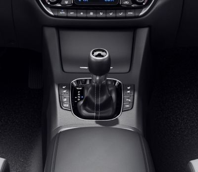 Close-up of the gearshift in the new Hyundai i30 Wagon.